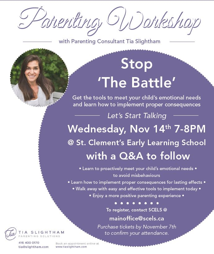 SCELS Parenting Workshop:  Stop 'The Battle'